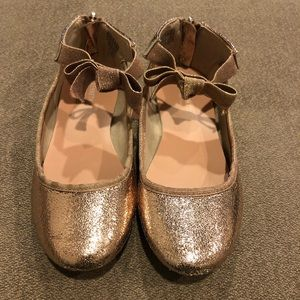 Kenneth Cole Rose Gold Girls Ballet Flats size 13
